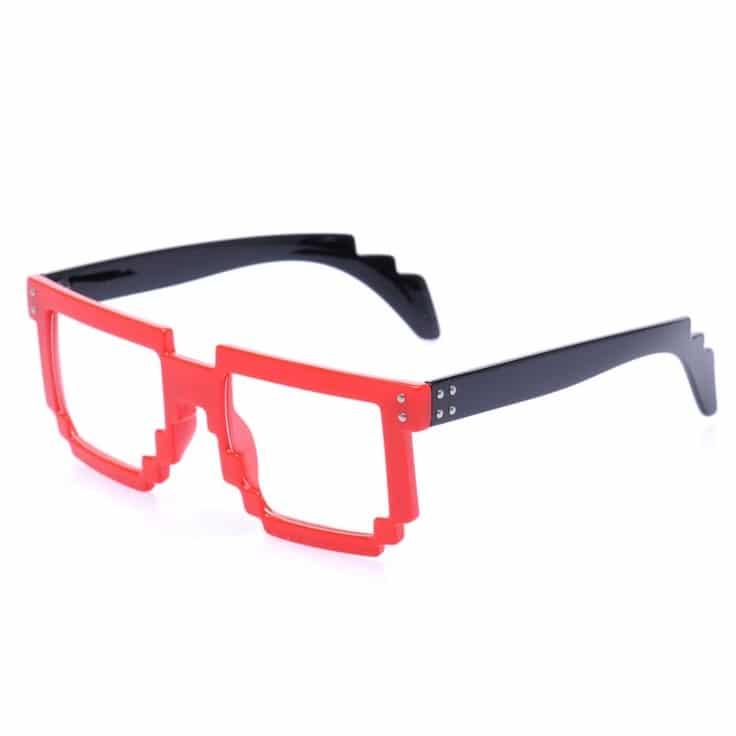 9b3fc54d02bec Lunettes Monture style Wayfarer Geek Retro Vintage 80s - Monture Noir - Verres  Neutre Transparent -